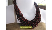 exotic bead necklaces multi seeds handmade