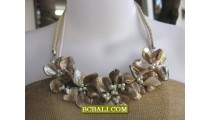 natural shells nuged beading necklaces chokers