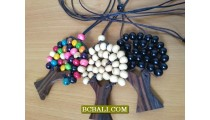 wooden necklaces pendants beaded stings
