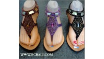 Bohemia Wedges Glass Beads Leather