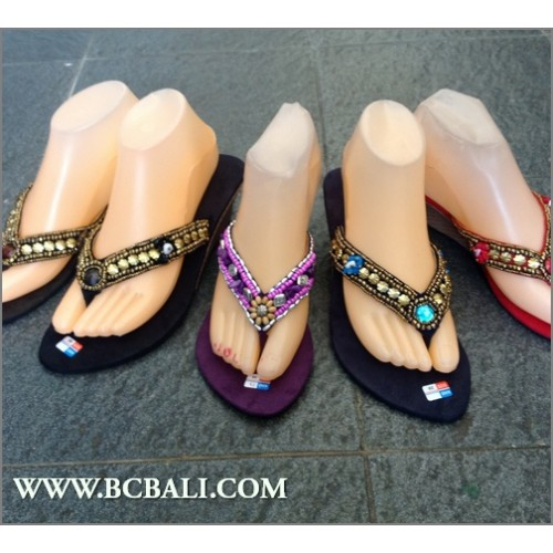 aced673432e8 Bali Slippers Wedges Beads - bali slippers wedges beads