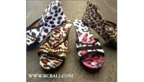 Wedges Sandals Tigers Leather Bali Handmade