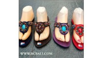 Sandals Bead Stones Slippers Bohemian