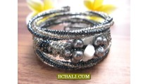 Bali Women Cuff Bracelets Beaded Fashion Design