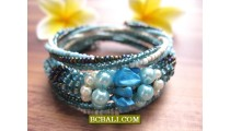 Bali Fashion Beads Cuff Bracelets Casual