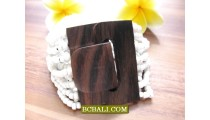Buckles Wooden Clasps Stretched Bracelets