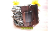 Clasps Wooded Natural Beading Bracelets