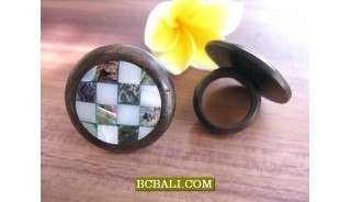 Balinese Ethnic Black Wood Finger Rings Accessories