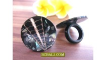 Black Shells Rings Handmade Designs Bali Handicraft