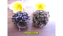 Multi Seeds Sequins Finger Rings Flowers Designs