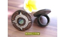 Bali Handmade Wood Rings Accessories Designs