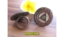 Handmade Fashion Finger Rings Ethnic by Wood