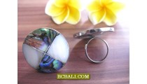 Bali Stainless Steels Rings Adjustable Designs Seashells
