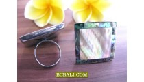 Ladies Handmade Rings from Seashells Abalone