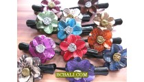Bali Leather Snake Hair Clips Accessories Handmade