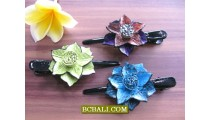 new designs floral leather hair accessories for kids
