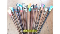 hair stick colorings black wood bali design unique
