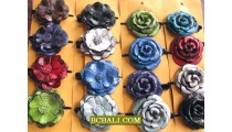Leather Hair Clips Accessories Flowers Tropical