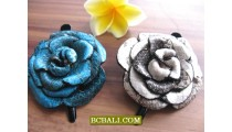 ladies hair slide handmade accessories genuine leather