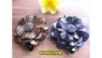 hair slide fashion accessories tropical flower leather