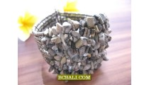Balinese Stone Beaded Bracelets Cuff Fashion