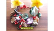 Seashells Beading Flowers Bracelets Designs