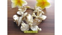 Natural Seashells Bracelets Seeds Beaded Flower Designs