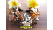Exotic Flowers Beads Shells Bracelets Fashion Designs