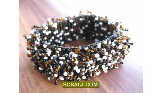 Grass Style Beaded Stretch Bracelets Women