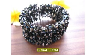 Fashion Glass Beads Cuff Bracelets Handmade