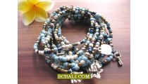 Bali Sequins Multi Seeds Bracelets Stretch