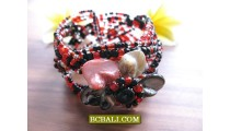 New Beads Floral Bracelets Cuff Designs Balinese