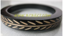 Carved Wooden Bangle Hand Work