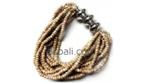 bali beads bracelets stretches beige