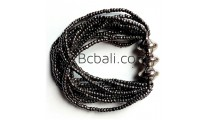 bali beads bracelets stretching grey