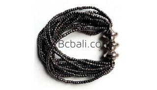 bali beads bracelets stretching grey
