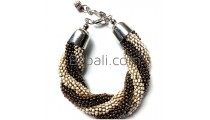 bali glass beaded handmade bracelets two color