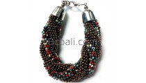 beads glass bracelets made from bali new designs