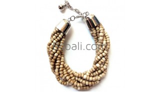 natural beaded bracelets balinese design new fashion women