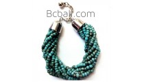 turquoise bead bracelets bali charm fashion women accessory