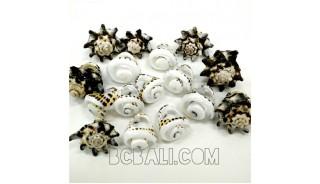organic seashells finger rings tribal designs