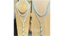 multiple strand beads bluesky necklaces double wrist