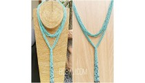 multiple strand beads turquoise necklaces double wrist