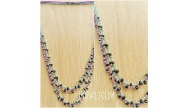 two color crystal bead bali necklaces fashion