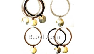 bali choker bead necklace pendant sea shells