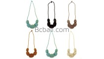 bead necklace disc triangle long strand fashion design