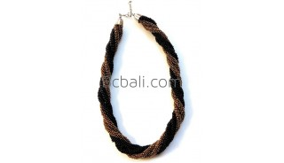 black golden beads necklaces two color