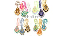 miyuki glass bead necklaces motif diamond shape pendant