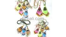 glass bead miyuki evil eyes necklace crystal pendant