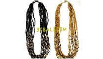 glass beaded necklaces design multy charms
